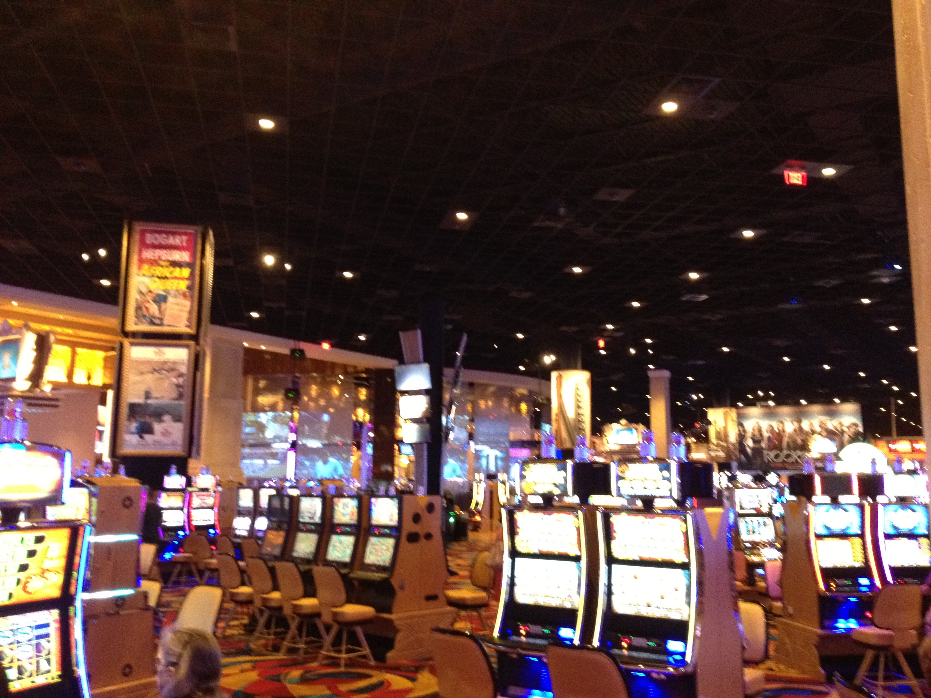 Slot area in Hollywood Casino Toledo